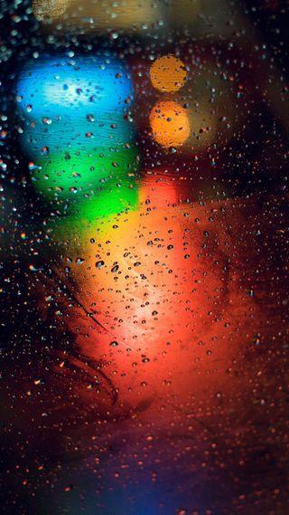 Обои на телефон мокрые, стекло, капли, дождь