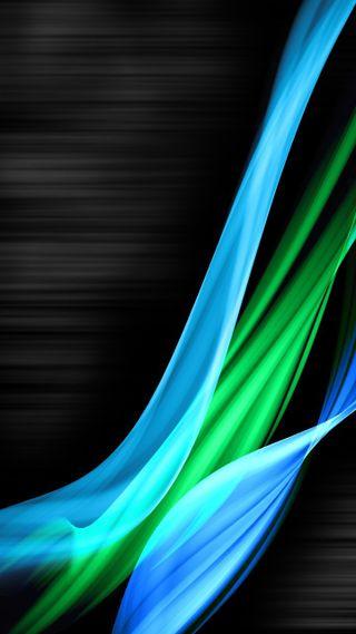 Обои на телефон черные, синие, зеленые, абстрактные, windows, vista, 720p