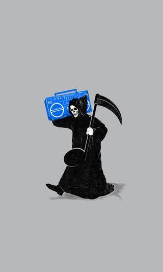 Обои на телефон жнец, музыка