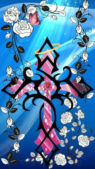 Обои на телефон черные, синие, розы, розовые, листья, крест, бабочки, vines, rose cross, halo