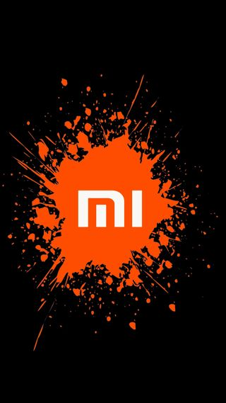 Обои на телефон color splah, xiaomi, логотипы, цветные, оранжевые, сяоми, брызги, ми
