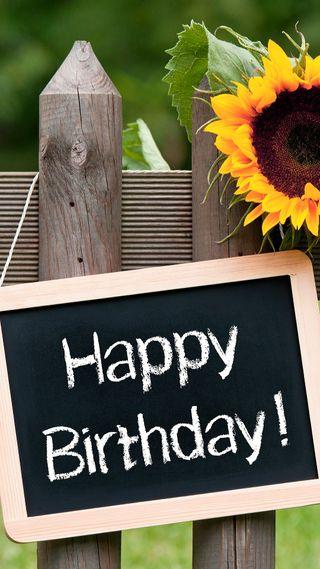 Обои на телефон пожелание, счастливые, подсолнухи, день рождения, высказывания, happy