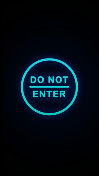 Обои на телефон домашний экран, экран блокировки, дизайн, do_not_enter_neonblu