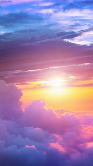 Обои на телефон солнечный свет, солнце, природа, облака, восход, арт, art
