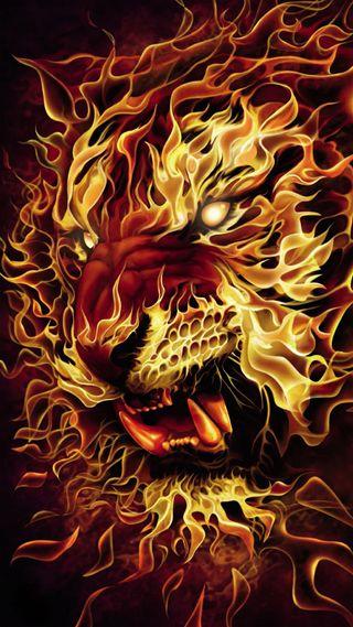 Обои на телефон безумные, огонь, лев, злые, животные, дикие, гореть, lion on fire
