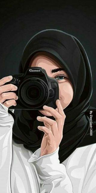 Обои на телефон хиджаб, камера, фото, смайлики, исламские, девушки, аниме, photographer