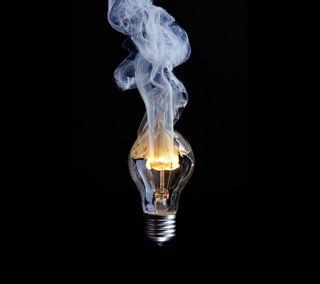 Обои на телефон сломанный, огонь, лампа, дым, горящий, broken burning lamp