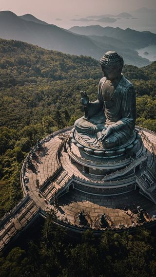 Обои на телефон статуя, будда, путешествие, духовные, вид, великий, азия, tourist, hd, great buddha, east