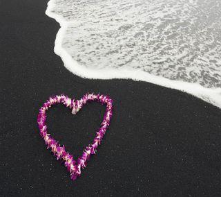 Обои на телефон эмо, сердце, пляж, милые, любовь, love beach, love