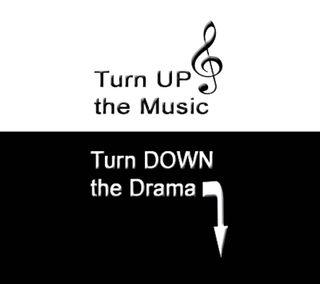 Обои на телефон позитивные, фан, счастливые, поговорка, музыка, драма, turn up the music, happy