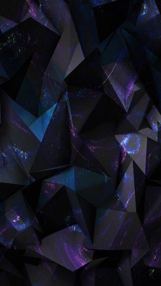 Обои на телефон абстрактные, черные, фиолетовые