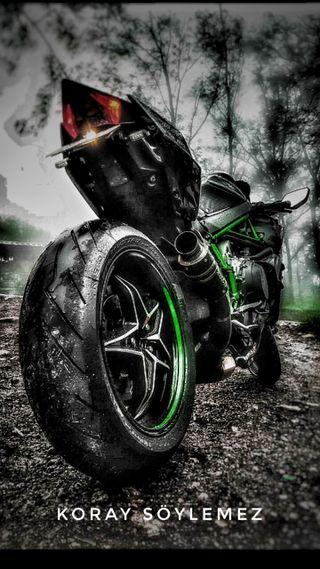 Обои на телефон мотоциклы, ночь, ниндзя, авто, ninja h2 r