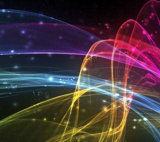 Обои на телефон цифровое, красочные, волны, абстрактные, xperia z4, xperia