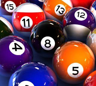 Обои на телефон шары, числа, цветные, новый, красочные, игры, pool