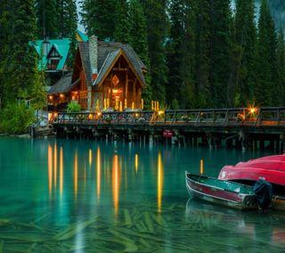 Обои на телефон озеро, изумруд, вид, взгляд, good, emerald lake view
