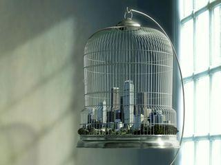 Обои на телефон мир, здания, абстрактные, world in cage, cage