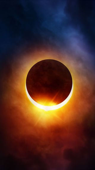 Обои на телефон солнечный, солнце, небо, луна, затмение, solar eclipse 3