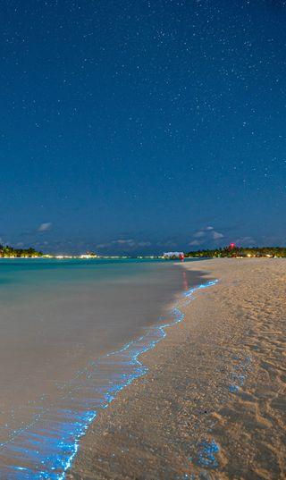 Обои на телефон тропические, солнечные, светящиеся, рай, амолед, природа, популярные, пляж, пейзаж, океан, ночь, небо, мальдивы, лето, космос, звезда, в тренде, абстрактные, redhan (planktons), redhan, planktons, nabeeh nabyh seefromthesky ishan maldives summer sunny ocean beach lagoon tropical paradise hd 4k zedge nature landscape live drone wallpaper abstract popular trending, glowing beach, biolumincent, amoled oled