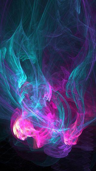 Обои на телефон дым, фиолетовые, красочные, абстрактные