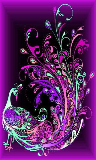 Обои на телефон птицы, фиолетовые, красочные, абстрактные