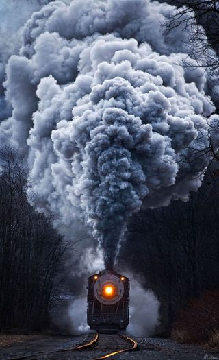 Обои на телефон поезда, природа, дым, белые, trains, locomotive, atqnn