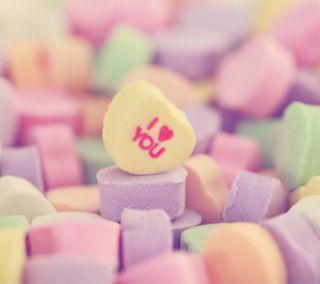 Обои на телефон конфеты, ты, сердце, романтика, милые, любовь, валентинка, love, i heart you