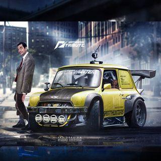 Обои на телефон ряд, мистер, актер, машины, комедия, mr bean car