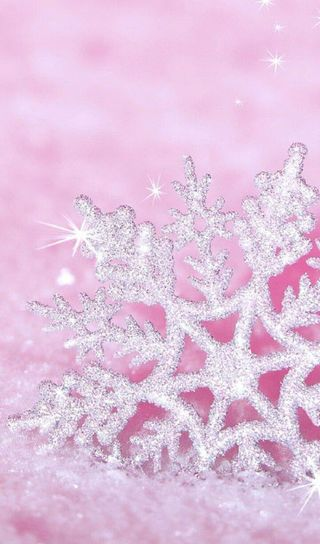 Обои на телефон блестящие, снег, розовые, рождество, зима, snowfl, diamods, ak