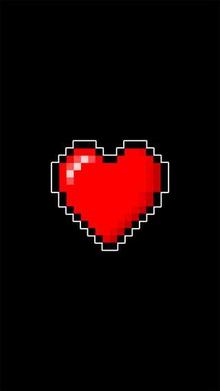 Обои на телефон сердце, нинтендо, зельда, pixel, nintendo 8bits, link, heart pixel 8 bits