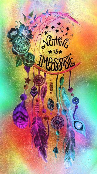 Обои на телефон абстрактные, дизайн, цветные, цитата, высказывания, слова, мечты, ловец снов, невозможно
