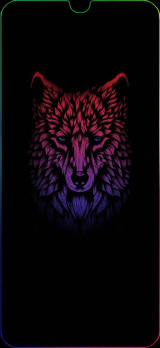 Обои на телефон рамка, амолед, волк, amoled wolf