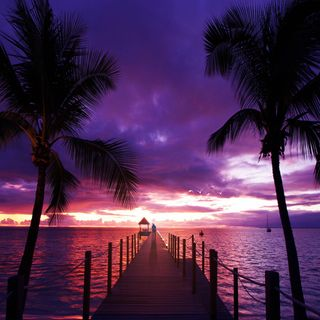 Обои на телефон айпад, пляж, лучшие, закат, hd