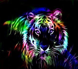 Обои на телефон тигр, красочные