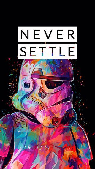 Обои на телефон решить, никогда, звездные войны, starwars-neversettle, neversettle, never-settle, never settle