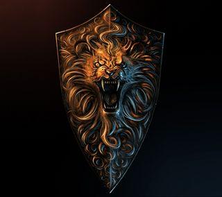 Обои на телефон щит, воин, shield warrior, jhvg, gfss
