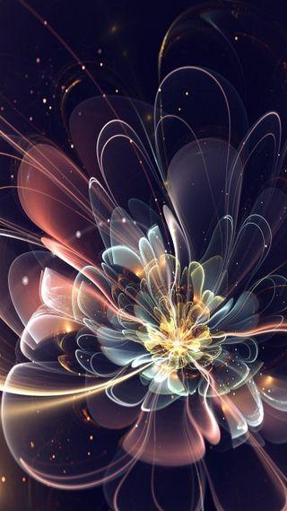 Обои на телефон удивительные, цветы, крутые, абстрактные, 3д, 3d abstract flower, 3d
