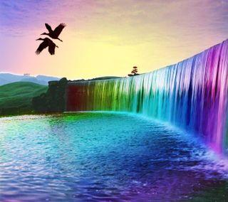 Обои на телефон пожелание, цветные, разум, мой, комментарий, водопад, hd colour waterfall