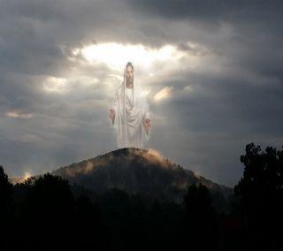 Обои на телефон открыто, религиозные, небо, исус, jesus sky, jesus returning, jesus in the sky, jesus arms open