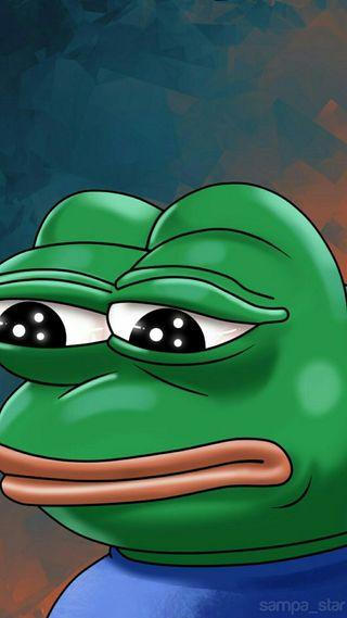 Обои на телефон мем, лягушка, забавные, грустные, sag, sad frog