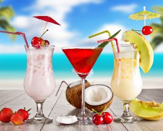 Обои на телефон вишня, тропические, напиток, напитки, лето, коктейль, клубника, cocktail drink
