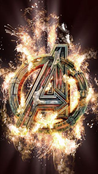 Обои на телефон пламя, огонь, мстители, марвел, логотипы, marvel, avengers assemble
