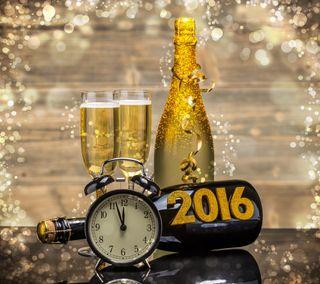 Обои на телефон шампанское, счастливые, новый, happy, 2016