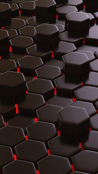 Обои на телефон шестиугольники, геометрические, хипстер, крутые, красые, дизайн, в тренде, абстрактные, red hexagons