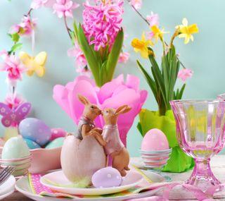 Обои на телефон яйца, пасхальные, цветы, украшение, счастливые, весна, happy, bunnies