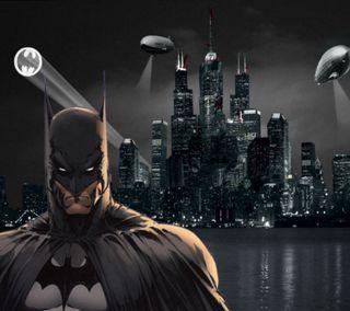 Обои на телефон готэм, горизонт, бэтмен, skyline
