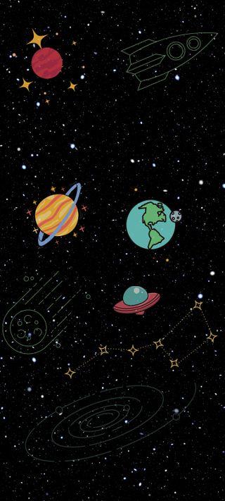 Обои на телефон планеты, космос