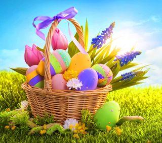 Обои на телефон красочные, цветные, желтые, время, пасхальные, празднование, декор, печенье
