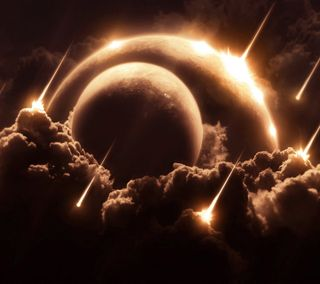 Обои на телефон конец, солнце, самсунг, огонь, облака, космос, земля, галактика, samsung hd, samsung, galaxy, ashes, 3д, 3d
