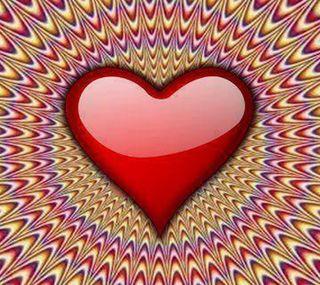 Обои на телефон love, heart illusion, любовь, абстрактные, красые, сердце, иллюзии