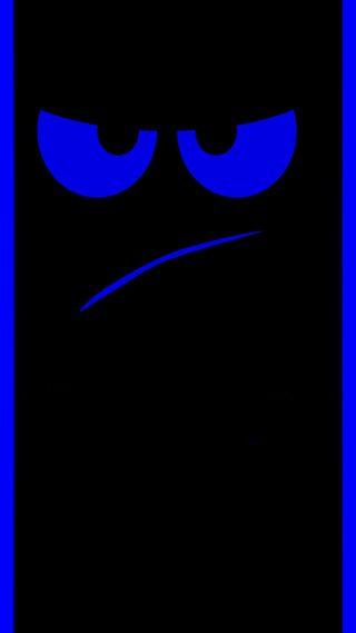 Обои на телефон безумные, синие, грани, глаза, абстрактные, s7 edge mean mug, mean